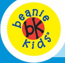 """Skansen Beanie Kid """"Tingle"""" Fluoro Orange Bear Mwmt"""