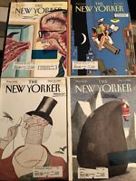 The New Yorker Magazine Lot Of 4 Magazines Have Labels & Stamped.  Lot 10