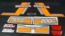 1984 84' honda 200m ATC vintage decals sticker trike kit 10pc graphics ATV