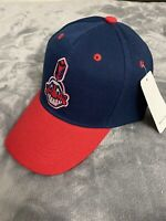 CLEVELAND INDIANS Vintage Throwback Logo MLB Baseball Curved Bill Cap Hat NEW C1
