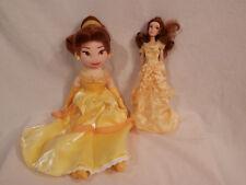 """Disney Beauty & the Beast - Belle dolls 20"""" Plush & 12"""" figure 2 dolls"""