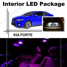 For Kia Forte 2010-2013 Pink LED Interior Kit + Xenon White License Light LED