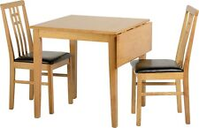 Vienna 2 Seater Dining Set Fixed OR Drop Leaf Top in Medium  RUBBER WOOD