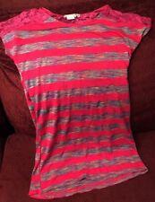 Missunderstood Shirt Dress Short Sleeve Pink Stripes Girl's Large Used USA