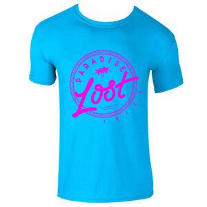 Paradise Lost Ibiza Men's T Shirt Neon Logo Hot Pink Vintage Eivissa