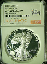 2018-S American Silver Eagle $1  NGC PF70 UCAM - FIRST DAY ANA