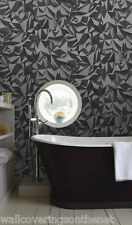 3d Effect Tetrahedron, Black, Charcoal & Grey, Paste the Wall, Wallpaper