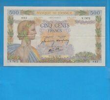 500 Francs LA PAIX  du 6-4-1944 Alphabet  V.7972  RARE