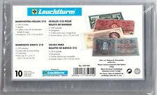 Leuchtturm 100 Banknote Sleeves 210x127 mm (model no. 339345) neu&ovp Joblot