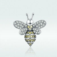 925 Sterling Silver Lovely Bee Charm Pendant Cubic Zircon Jewelry For Women Girl