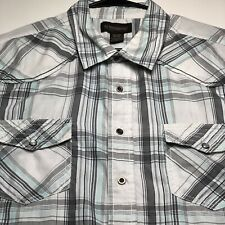 No Boundaries Men's Short Sleeves Button Up Western Shirt XXL Multicolor Stripes