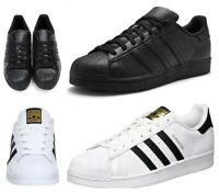 Adidas Mens Originals Superstar Trainers Black White