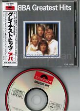 ABBA Greatest Hits JAPAN CD w/OBI(creases)+P/S BOOKLET P33P-20050 '86 issue VG