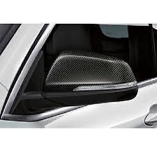 Carbon Fibre Mirror Cap Set Genuine BMW X1 F48 51162407277 51162407278