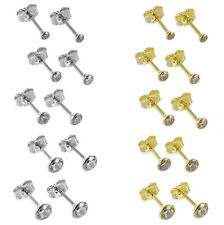 333 Gelbgold bzw. 925 Silber Ohrstecker Zirkonia Ohrringe Herren Damen Kinder 💎