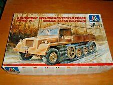 1998 ITALERI Model SCHWERER WEHRMACHTSSCHLEPPER GERMAN CARGO HALFTRACK Kit #360