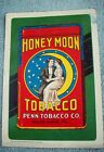 Lithographed+Tin+Advertising+Sign%2C+Honey+Moon+Tobacco%2C+Embossed