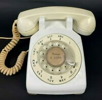 VINTAGE 1950's Western Electric Rotary Dial Desk Telephone White