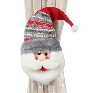 Christmas Curtain Tieback Clips Buckle Holder Window Decor Accessories Xmas KV