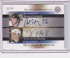 2005-06 Ultimate Collection Ultimate Pairing St. Louis/Lecavalier Auto #25/25