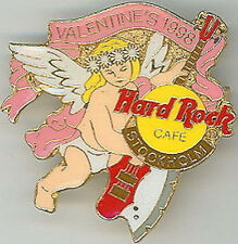 Hard Rock Cafe STOCKHOLM 1998 Valentine's Day PIN Angel Axe Bass Guitar - #9266