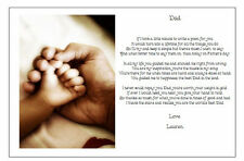 Personalised FATHERS DAY Poem Gift - A Beautiful present for your Dad -HANDS