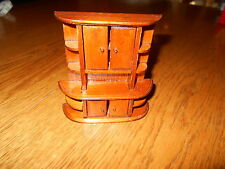 Doll House Miniatures wooden hutch w opening doors and rounded edges