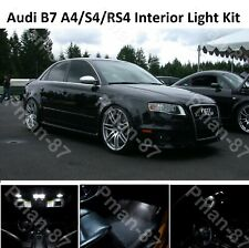 New 2018 Audi B7 A4/S4/RS4 04-08 INTERIOR WHITE FULL UPGRADE LED LIGHT BULBS KIT