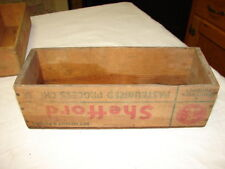 Vtg Shefford White American Cheese Box Crate Craft Sewing - Green Bay, Wis.