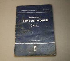 orig. Simson SR1 Betriebsanleitung Handbuch 1956 - SR2 KR50 Moped [2556]