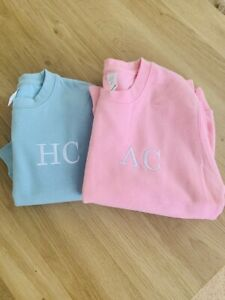 CHILDRENS EMBROIDERED PERSONALISED INITIALS JUMPER SWEATSHIRT JH30 3 - 13 YEARS