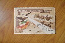CARTOLINA COLLEGIO MILITARE ROMA MAK IT IV CORSO 1908 VIAGGIATA SUBALPINA BB A