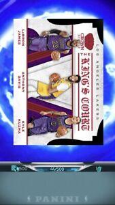 Panini Dunk Digital 2019 Lebron James Crown Royale # Lot Of (3) Cards