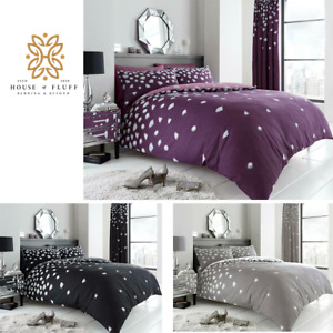 BEJEWELLED LUXURY PRINTED DUVET COVERS QUILT REVERSIBLE POLY COTTON BEDDING SETS