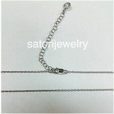 """Sterling Silver Solid 16""""Chain With 2"""" Extension *Free Shipping USA & Gift Box"""