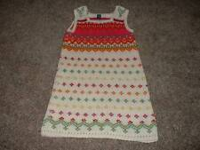 Baby Gap Girls Ivory Pink Sweater Jumper Dress Size 5T 5 yrs Toddler Winter Fall