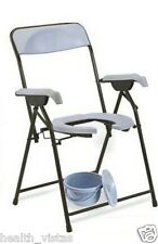 Ryder 210MS Folding Commode Chair with Front Cut