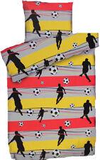 Soccer Fußball Bettwäsche ca. 155 x 220 cm schwarz rot gold für die Fußball WM