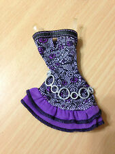 Barbie My Scene Nolee Rebel Style Doll Outfit Clothes Purple Ruffle Belted Dress
