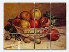 Renoir Still Life Pomegranate 2 Marble Mural Backsplash Kitchen 16x12 in
