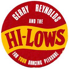 Original 1960s Irish showband promo sticker - Gerry Reynolds & The Hi-Lows