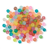 500pcs Colorful Transparent Glass Beads Frosted Smooth Loose Beads Round 4~4.5mm