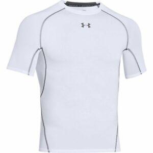Under Armour Men's HeatGear Armour Short Sleeve Compression WHITE | GRAPHITE MD