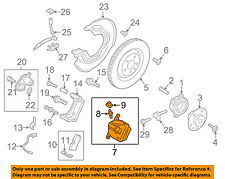 PORSCHE OEM 2015 Macan Rear Brake-Disc Caliper Assembly 95B615423D