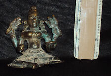 Antique Traditional Indian Ritual Bronze Goddess Durga MahishasurMardini Rare #4