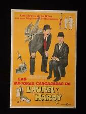 THE BEST OF LAUREL AND HARDY * ARGENTINE 1sh MOVIE POSTER 1969