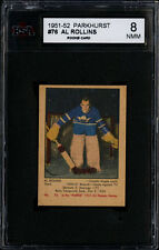 1951-52 PARKHURST #76 AL ROLLINS ROOKIE CARD TORONTO MAPLE LEAFS KSA 8 NM-MT