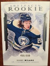 2016-17 Ud Artifacts Hockey Rookie Sonny Milano /999