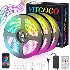 VITCOCO 12M Tira LED Bluetooth, LED Strip 5050 RGB de Impermeable (12M)