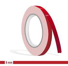 ZIERSTREIFEN - 8 mm KARMINROT GLANZ 10m Auto DUNKEL Rot Stripe Boot 0,8cm Dekor
